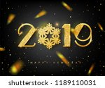 2019 happy new year greeting... | Shutterstock .eps vector #1189110031