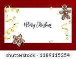 christmas homemade gingerbread. ... | Shutterstock .eps vector #1189115254