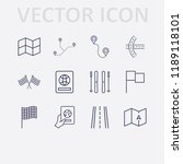 outline 12 country icon set.... | Shutterstock .eps vector #1189118101