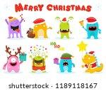 Cute Christmas Monster Set