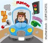 illustration of mascot... | Shutterstock .eps vector #1189124251