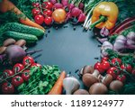 different raw vegetables and... | Shutterstock . vector #1189124977