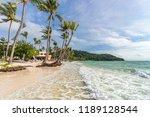 landscape view of seashore on... | Shutterstock . vector #1189128544