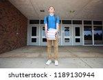 back to school supplies  boy... | Shutterstock . vector #1189130944