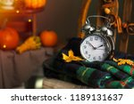 fall is here   autumn time ... | Shutterstock . vector #1189131637