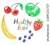 hand drawn doodle funny healthy ... | Shutterstock .eps vector #1189131727