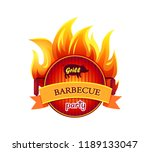 grill barbecue party hot... | Shutterstock .eps vector #1189133047