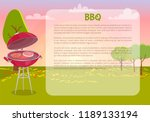 bbq poster with text and nature ... | Shutterstock .eps vector #1189133194
