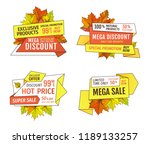 wholesale advert on products at ... | Shutterstock .eps vector #1189133257
