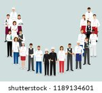 restaurant team. group chef... | Shutterstock .eps vector #1189134601