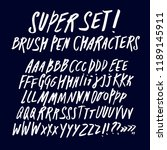 hand drawn brush pen abc... | Shutterstock .eps vector #1189145911