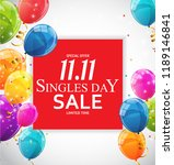 november 11 singles day sale.... | Shutterstock .eps vector #1189146841
