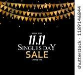 november 11 singles day sale.... | Shutterstock .eps vector #1189146844