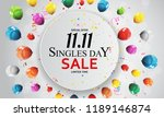 november 11 singles day sale.... | Shutterstock .eps vector #1189146874