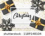 christmas background with gifts ... | Shutterstock .eps vector #1189148104