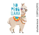 illustration with llama and... | Shutterstock .eps vector #1189162951