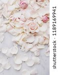 Stock photo beautiful rose petals on marble 1189169941