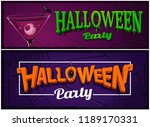 set of halloween party banners  ... | Shutterstock .eps vector #1189170331