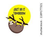 cute vector illustration. funny ... | Shutterstock .eps vector #1189177321