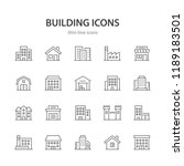 building line icons. | Shutterstock .eps vector #1189183501