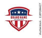 creative logo design american... | Shutterstock .eps vector #1189186627