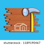 wall with home repair icons | Shutterstock .eps vector #1189190467