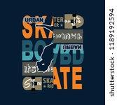 urban skate t shirt design...   Shutterstock .eps vector #1189192594