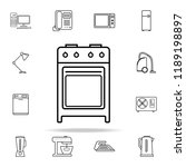 gas oven icon. appliances icons ... | Shutterstock .eps vector #1189198897