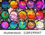 watercolor paint palette.... | Shutterstock . vector #1189199047