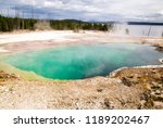small spring at the west thumb...   Shutterstock . vector #1189202467