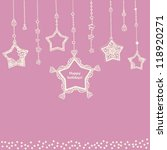card template with hanging... | Shutterstock . vector #118920271