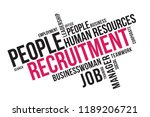 recruitment word cloud collage  ... | Shutterstock .eps vector #1189206721