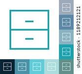 kitchen cupboard line icon ... | Shutterstock .eps vector #1189212121