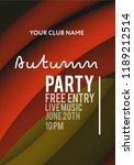 night party banner template for ... | Shutterstock .eps vector #1189212514