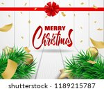 merry christmas. design with... | Shutterstock .eps vector #1189215787