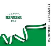 happy nigeria independence day... | Shutterstock .eps vector #1189222531