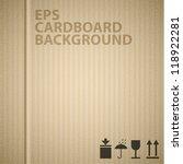 vector cardboard background... | Shutterstock .eps vector #118922281