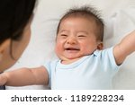 happy baby play and smiling... | Shutterstock . vector #1189228234