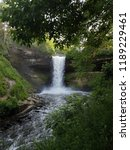 minnehaha falls surrounded by... | Shutterstock . vector #1189229461
