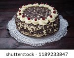 black forest cake on mahogany... | Shutterstock . vector #1189233847