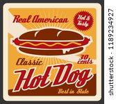 hot dog  american fast food.... | Shutterstock .eps vector #1189234927