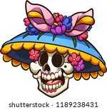 day of the dead mexican catrina ... | Shutterstock .eps vector #1189238431