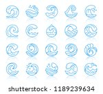 wave thin line icons set.... | Shutterstock .eps vector #1189239634