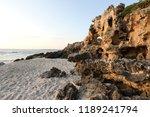 sunset on beach mettams pool... | Shutterstock . vector #1189241794