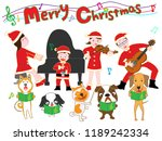 christmas concert of family and ... | Shutterstock .eps vector #1189242334
