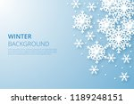 hello winter design background. ... | Shutterstock .eps vector #1189248151