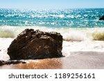 malibu seashore rock | Shutterstock . vector #1189256161