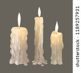 Illustration Of Candles Icon...