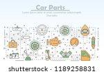 car parts advertising poster...   Shutterstock .eps vector #1189258831