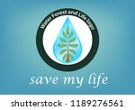 logo vector reforestation and... | Shutterstock .eps vector #1189276561